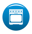 domestic gas oven icon blue vector image vector image