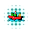 Dry cargo comics icon vector image vector image