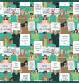 earth day seamless pattern people crowd protest vector image