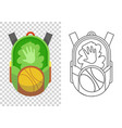 education and study school backpack icon vector image vector image