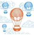 Fly Ballon on Sky Hand Draw Sketch vector image vector image