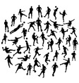 Football Sport Activity Silhouettes vector image vector image
