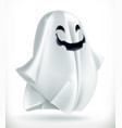 ghost happy halloween 3d icon vector image vector image