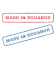 made in ecuador textile stamps vector image vector image