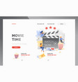 movie time web header template vector image