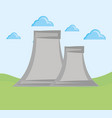 nuclear plant design vector image