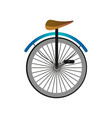 one wheel circus bicycle with metal pedals and vector image vector image