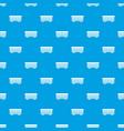 passenger train car pattern seamless blue vector image vector image