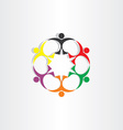 people teamwork team concept icon sign vector image vector image