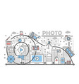 photo concept flat line art vector image vector image