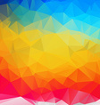 polygonal colorful mosaic background vector image vector image