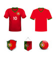 portugal football national team in euro vector image vector image