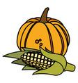 pumpkin vegetable design vector image vector image