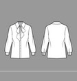 pussy-bow shirt technical fashion vector image vector image