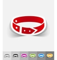 realistic design element dog-collar vector image