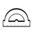 ruler measuring icon image vector image vector image
