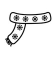 scarf with snowflakes decoration merry christmas vector image vector image