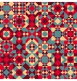 Seamless Geometric Blocks Quilt Pattern vector image vector image