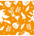 seamless pattern for halloween with witch vector image