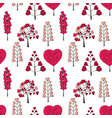 seamless pattern made from pink floral objects vector image
