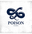 snake logo emblem or tattoo deadly poison vector image vector image