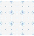 snowflake pattern blue vector image