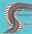 speed road with tire track silhouettes vector image