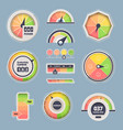 speedometer indicator set dashboard information vector image
