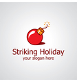 striking holiday logo vector image vector image