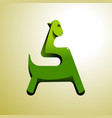 stylized green dinosaur can be used as an vector image vector image