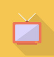 television icon set of great flat icons with vector image