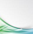 Transparent modernistic green swoosh wave folder vector image vector image