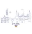 zaragoza city skyline vector image vector image