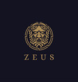 zeus god logo icon lopiter logo jupiter logo vector image vector image