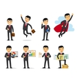 Cartoon businessman poses vector image