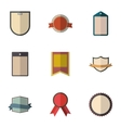 Tag icons set flat style vector image