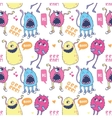 Monsters seamless pattern vector image