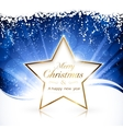 golden christmas star background vector image