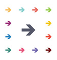 Arrow flat icons set