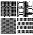 Black and white seamless pattern of curved steel vector image vector image