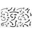 black arrows set vector image vector image