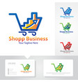 business up shop logo vector image vector image