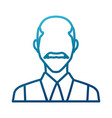 businessman profile symbol vector image