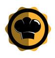 chef hat silhouette icon vector image