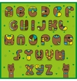 Chocolate artistic font Funny brown symbols vector image vector image