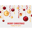 christmas balls transparent background vector image vector image