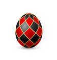 color easter egg on white background red vector image vector image