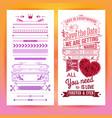 colorful romantic wedding invitation design image vector image