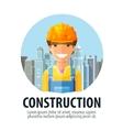 construction company logo design template vector image