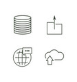 data outline icons set vector image vector image
